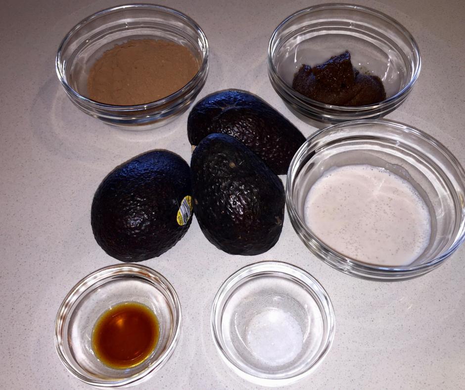 Chocolate Avocado Mousse Mise en Place