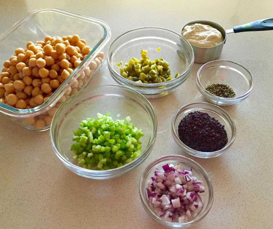 TuNo Salad Mise en Place