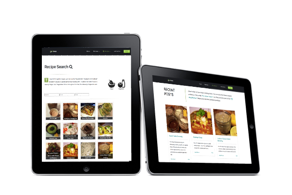 Tablets with Recipe Info