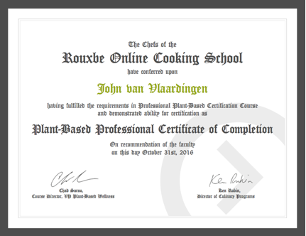 Professional Plant-Based Certificate