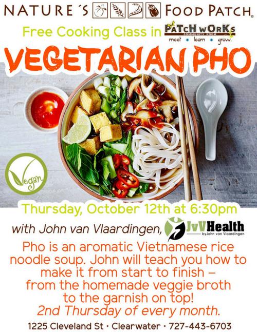 Vegetarian Pho Flyer